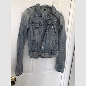 Talula Denim Jean Jacket with Studs